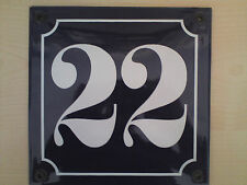 Hausnummer weiß  Emalie neu  alle Nr 10 11.12. Denkmal rustikal Berliner Nummer