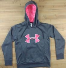 Under Armour Women's Pull Over Hoodie Sweatshirt Size Small Pink & Gray