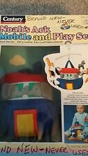 Vintage CENTURY Noah's Ark MOBILE and PLAY SET 1992 Never Used NEW Washable