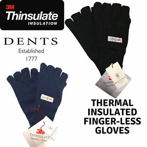 Dents 3M Thinsulate Women's Fingerless Knit Gloves Polar Insulation Thermal