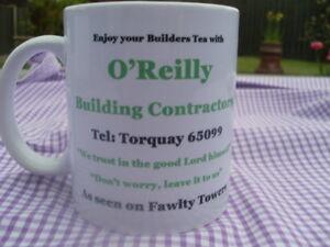Fawlty Towers Hotel O'Reilly Builders mug original design new Birthday Gift
