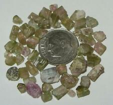 40.06ct Lot Watermelon Tourmaline Rough Small Crystals & Pieces SPECIAL
