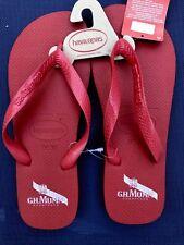 Ricard Gh Mumm Champagne! Havaianas Men's Flip Flops Dark Red *free Sunglasses