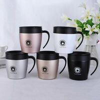 Stainless Steel Thermos Coffee Mug Insulated Double Wall Water Cup With Lid UK