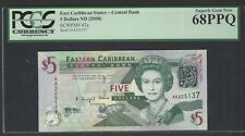 East Caribbean 5 Dollars ND (2008) P47a  Uncirculated Graded 68
