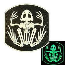 DEVGRU US Navy Seals frogman PVC rubber glow dark morale bone frog hook patch