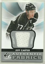 2012 12-13 SP GAME USED AUTHENTIC FABRICS JERSEY KINGS JEFF CARTER #AF-JC