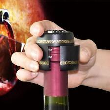 1pc Plastic Bottle Password Lock Combination Lock Wine Stopper Vacuum Plug Black