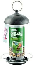 Gardman Black Steel Seed Feeder Easy Fill Easy Clean Metal Feeder A01172
