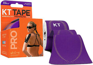 """KT Tape Pro Synthetic Kinesiology Therapeutic Sports Tape, 20 Precut, 10"""" Strips"""