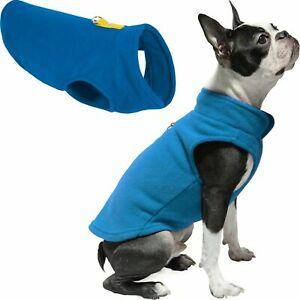 Gooby Everyday Fleece Vest  for Small Dog and Cat, Medium Deep Blue NEW