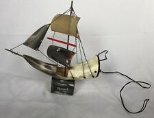 Handmade Horn Ship Night Lamp