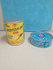 Vintage Micro Machines Motor Oil + Wax Can Playset Galoob Lot *VERY NICE & CLEAN