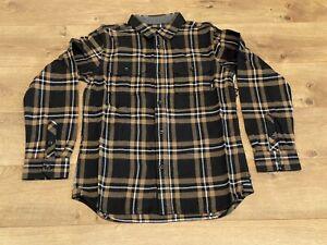 Vans Westminster Boys Flannel LS Shirt Black-Brown SZ M ( VN0A49LJRQ1 ) NWT!!