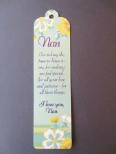 NEW BOOKMARK NAN Gift Present Nanny Christmas I LOVE YOU Message  Birthday Easte