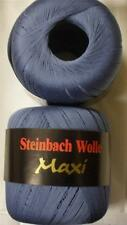 STEINBACH WOLLE MAXI MERCERIZED COTTON LACE YARN 100g 1 BALL LIGHT DENIM (17M)