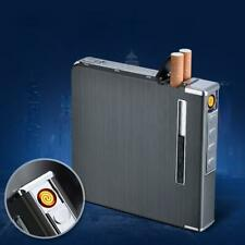 20 Cigarette Case Dispenser Tobacco Storage Box Holder W/Torch Windproof Lighter