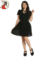 Hell Bunny Aria Mini Dress Chiffon Black Gothic Party Alternative