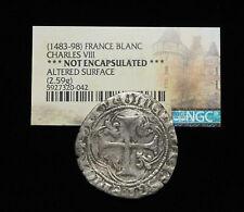 FRANCE. Charles VIII, 1483-98, Silver Blanc, NGC