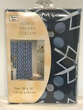 "Popular Bath Polyester Fabric Shower Curtain Blue 70"" x 72"" New    G1"