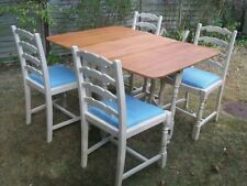 Wood Up to 4 Unbranded Rectangular Table & Chair Sets