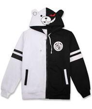 Danganronpa MonoKuma B&W Bear Hoodie Zipper SweatShirt Cosplay Coat Jacket Gift