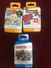 New Shuffle Card Games Bundle, Transformers, Guess Who & Connect4