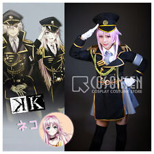 Cosonsen Anime K Project Neko Spoon Military Uniform Cosplay Costume All Size