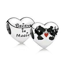 Charm mickey mouse Heart Bead Charm mouse charm bracelet birthday christmas CH43