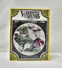 "Woodland Scenics TK21 Two 4.5"" Gnarled Trees New in Box Kit HO scale scenery"