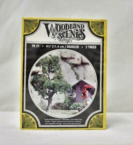 """Woodland Scenics TK21 Two 4.5"""" Gnarled Trees New in Box Kit HO scale scenery"""