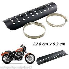 1x Motorcycle Exhaust Muffler Pipe Heat Shield Cover Heel Guard Black For Ducati