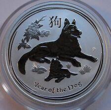 Original 2018 Australia 50 cents Lunar 1/2 oz .999 silver Year of Dog