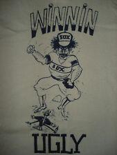 Vinage Rare 1980s CHICAGO WHITE SOX T SHIRT Winnin Ugly Butter Soft Retro LARGE
