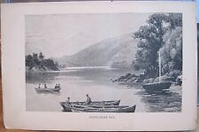 Antique Print GLENGARRIFF Glengariff CORK Ireland Magazine Art Boats Bantry Bay