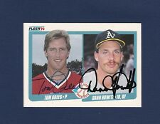 Tom Drees and Dann Howitt signed 1990 Fleer Rookie Card
