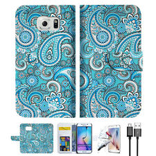Seamless pattern with paisle Wallet Case Cover For Samsung Galaxy S6-- A022