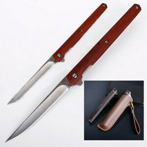 flipper fold knife M390 blade drop point indoor outdoor camping tool fruit knife