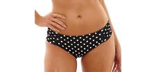 Cleo By Panache 'Anya' Spotted Gather Bikini Briefs Black Size UK 18 LF084 KK 24