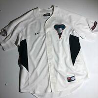 Vintage 90s Nike Arizona Diamondbacks Stitched Embroidered Jersey - XL