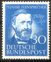 Bund Nr. 161 sauber postfrisch BRD 1952 Philipp Reis Michel 55,00 € MNH