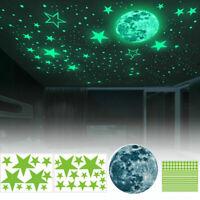 Sternenhimmel Wandtattoo Nachtleuchtend Sterne Mond Wand Aufkleber Wandaufkleber