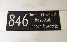 "London Hatfield Linen Bus Blind 1973 33""- 846 Queen Elizabeth Lincoln Electric"