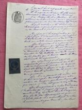 Antiguo francés escrito a mano manuscrito Nov 1883 magnífico calligrapy Decoupage