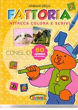 Attacca colora e scrivi animali della fattoria - Salvadeos - Nuovo in offerta!
