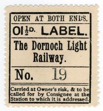 (I.B) The Dornoch Light Railway : Newspaper Parcel 1½d