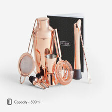 Bar Accessories - Rose Gold Cocktail Shaker Set - Stainless Steel - 8 Pieces SET