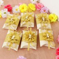 6pcs Paper Pillow Gift Bag Candy Box Garden Wedding Party Favors Boxes