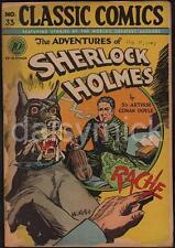Sherlock HOLMES Classic COMICS 1947 Hound of baskervilles stampa 7x5 cm RISTAMPA