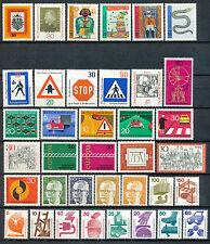 Bundespost jaargang 1971 postfris zonder C/D (driezijdig getande zegels)